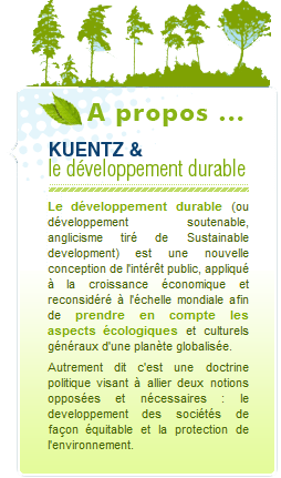 KUENTZ SAS DEVELOPPEMENT DURABLE